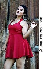 Cute Teen Girl In Red