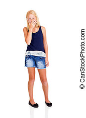 cute teen girl laughing