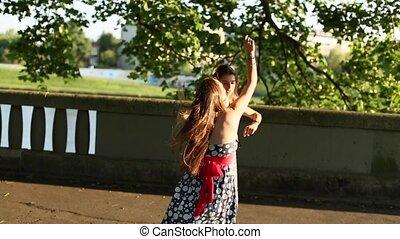Cute teen girls girlfriends jump