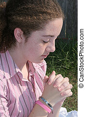 Cute Teen Praying 1