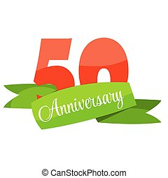Template 50 years anniversary congratulations vector illustration eps10.