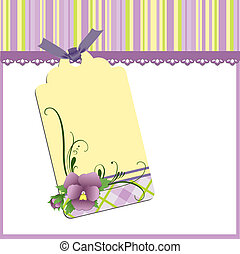 Cute template for Mother's Day postcard