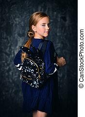 cute ten year old girl - Portrait of a cute ten-year-old...