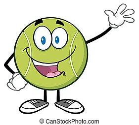 Cute Tennis Ball Waving