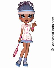 Cute Tennis Player