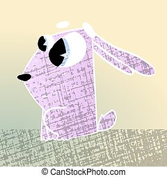 cute texturized cartoon rabbit