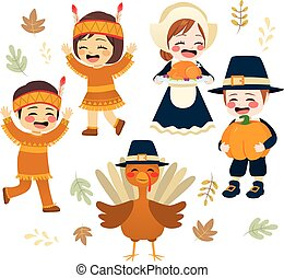Cute Thanksgiving Character Collection