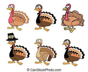 Cute Thanksgiving Turkey Set