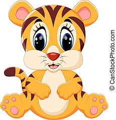 Cute tiger cartoon