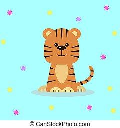 Cute tiger cartoon.