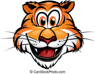 Cute Tiger Mascot - Cute Tiger Head Mascot.Separated into...
