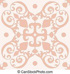 Cute Tile Vector Pattern Seamless