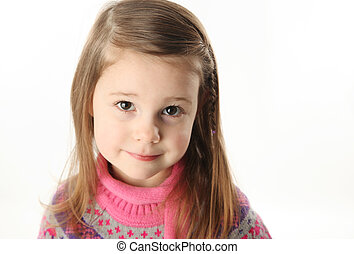 Cute toddler girl wearing a scarf