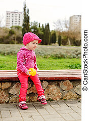 cute toddler with ball