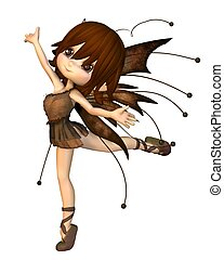 Cute Toon Autumn Fairy - Cute toon fairy in Autumn (fall)...