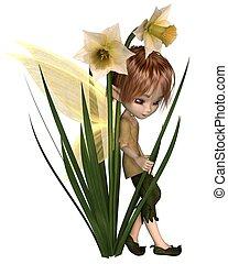 Cute Toon Daffodil Fairy Boy