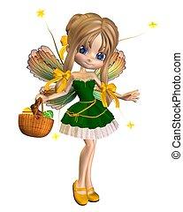 Cute Toon Easter Fairy - 1 - Cute toon easter fairy with a...