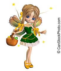 Cute Toon Easter Fairy - 1