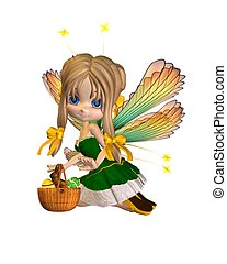 Cute Toon Easter Fairy - 2