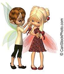 Cute Toon Fairy Friends - 2