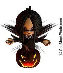Cute Toon Halloween Fairy - 1