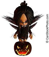 Cute Toon Halloween Fairy - 2
