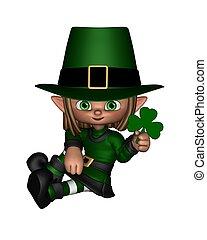 Cute Toon Irish Leprechaun - 1