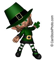 Cute Toon Irish Leprechaun - 2 - Cute toon Irish leprechaun...