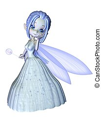 Cute Toon Snowflake Fairy - 1