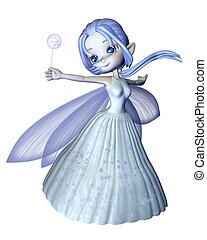Cute Toon Snowflake Fairy - 2