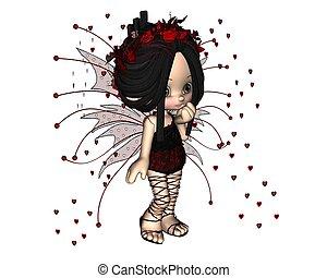 Cute Toon Valentine Fairy - 1