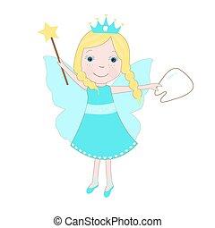 Cute tooth fairy vector.eps
