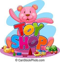 Cute toy shop logo
