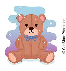 cute toy teddy bear icon