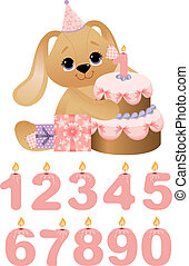 Cute toy with birthday cake - Cute bear toy with birthday...