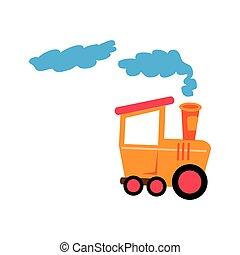 cute train isolated icon