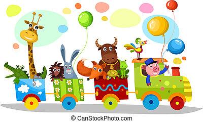 cute train - vector illustration of a cute train