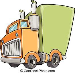 Cute Truck Vector Illustration Art
