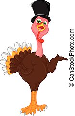 cute turkey bird cartoon