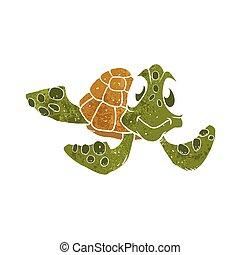 Cute turtle cartoon.