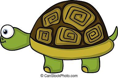 Cute turtle smiling