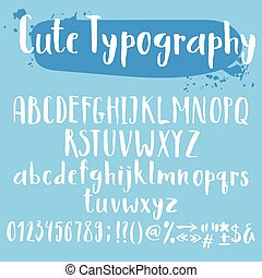 Cute typogrpahy letters set