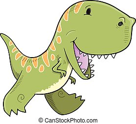 Cute Tyrannosaurus Dinosaur Vector