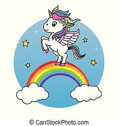 cute unicorn jumping