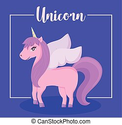 cute unicorn of fairy tale