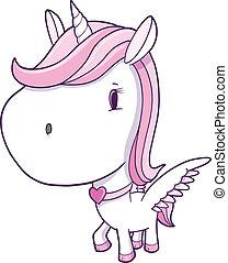 Cute Unicorn Pegasus Vector