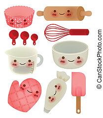 cute, utensílio cozinha