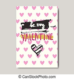 Cute Valentine Day Greeting Card Design Sketch Love Postcard In Doodle Style