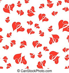 Cute valentine seamless pattern with hearts