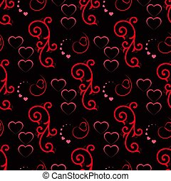 Cute valentine seamless pattern with hearts. Vector illustration